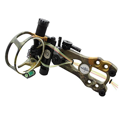 Southland Archery Supply SAS 5 Pins .019 Fiber Optic Bow Sight with Micro Adjustments and LED Light (Camo)
