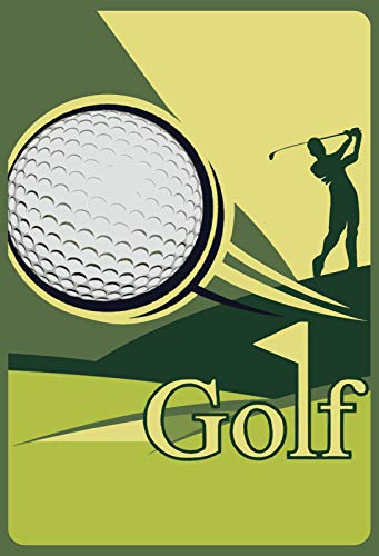 FS golfbal golfer metalen bord bordje gewelfd Metal Sign 20 x 30 cm