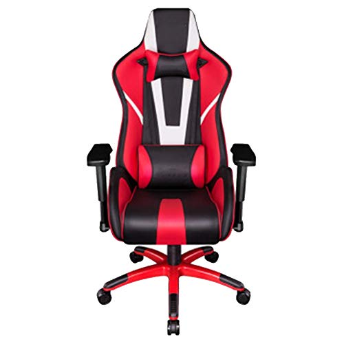 GLMAS Swivel bureaustoel, Gaming stoel Game Home Computer Office Swivel Ergonomische Anker Racing Zwart En Wit Rood