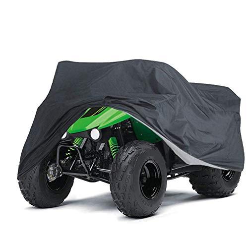 ZZX Telo Teli Copertura Protettiva per Moto ATV, Impermeabile 210D Oxford Tessuto Copri Moto ATV Quad Antipolveri Anti-UV con Borsa di Stoccaggio,XXL