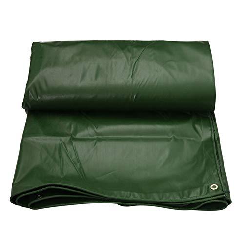 ZEMIN Bâche Protection Couverture Imperméable Crème Solaire Nature Qualité Boutonnière PVC, Vert, 550G/M², Plusieurs Tailles (Color : Green, Size : 3.8X6.8m)