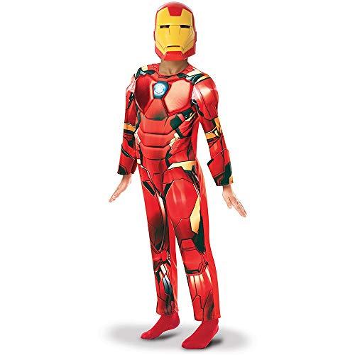 Generique - Avengers Iron Man-Kinderkostüm Superhelden-Anzug rot-gelb - 104/116 (5-6 Jahre)
