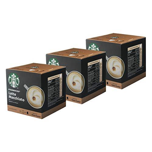 Nescafé Dolce Gusto Starbucks Latte Macchiato 3er Set, Kaffee, Milchkaffee, Kaffeekapseln, 3 x 12 Kapseln