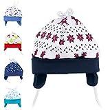 Baby Sweets Unisex Baby Mütze für Mädchen und Jungen in Grau Blau Braun als Erstlingsmütze im Rentier-Design/Babymütze für Neugeborene & Kleinkinder zum Binden in der Größe: Newborn (56)