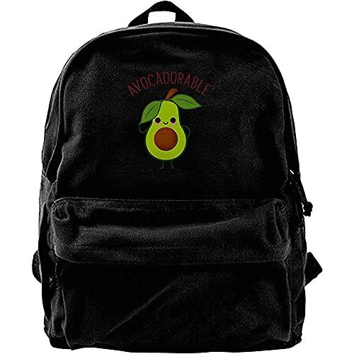 COLORSUM Backpack Rucksack Computerrucksäcke, College School Büchertaschen, Classic Canvas Daypack, Reiserucksack, Avocadorable Avocado Notebook Laptoptasche, Casual