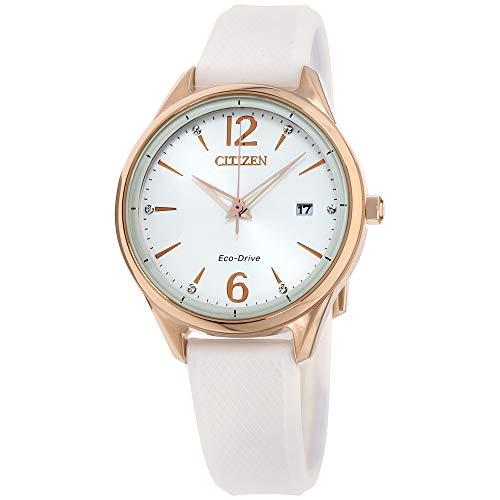 Citizen Reloj de Mujer Cuarzo 37mm Correa de Silicona Caja de Acero FE6103-00A