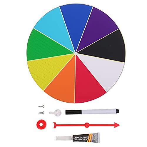 IMIKEYA 20 Centimetri Casino Premio Premio Ruota Spinner Spinning Ruota Premio di Colore da Tavolo da Parete Ruota Spinner per L' insegnamento di attività Puntelli Casa Decorazione di