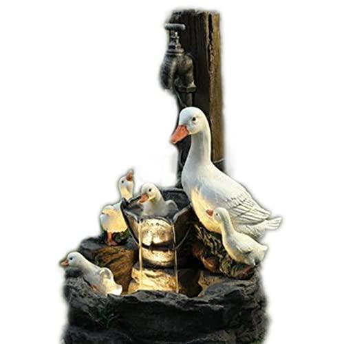 OMKMNOE Estatua Agua, Estatua Agua Estatua Fuente Agua Estatua Agua En El Agua del Grifo Resina Creativa Decoración De Estatua,Negro