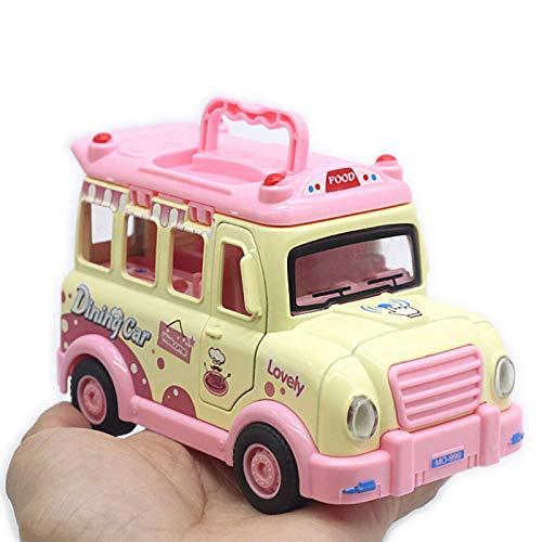 Pull Back Car 1/32 Cartoon Fast Food Truck Simulación Pull Back Car Toys Vehículo móvil Modelo Vehículo Niños Mini Car Toy Niños Niños Regalo