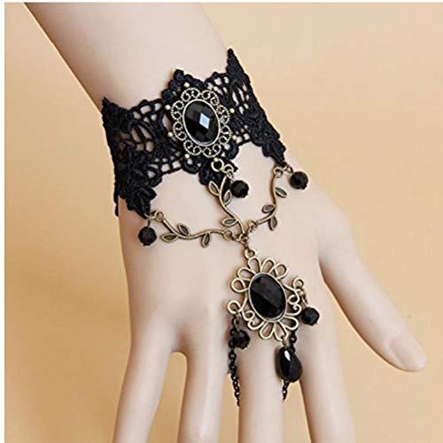 Romote 1pcs der neuen Ankunfts-handgemachte Retro-Schwarze Spitze Vampir-Sklaven-Armband Gotik