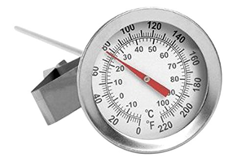 Home Brew Ohio Brewcraft Dial Thermometer Kettle Pot, Stainless Steel,...