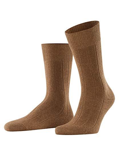 FALKE Herren Socken Lhasa Rib - Merinowoll-/Kaschmirmischung, 1 Paar, Beige (Humus 4660), Größe: 43-46