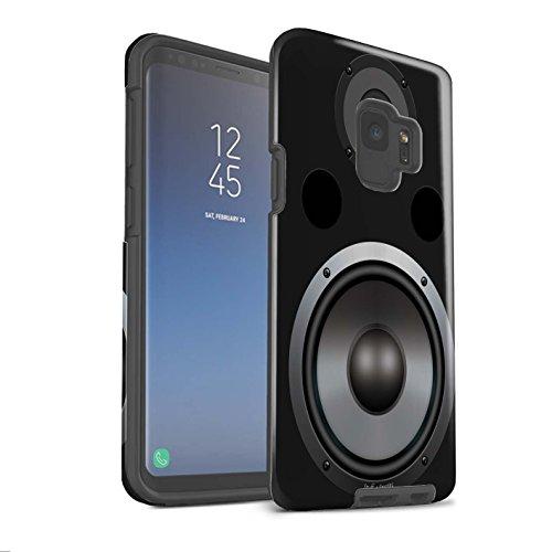 Stuff4® glanzende harde schokbestendige hoes/case voor Samsung Galaxy S9/G960 / HiFi patroon/luidspreker Design collectie