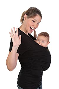 Amarsupiel - Camiseta Portabebés, Mujer, Talla L (44-46), Color Negro