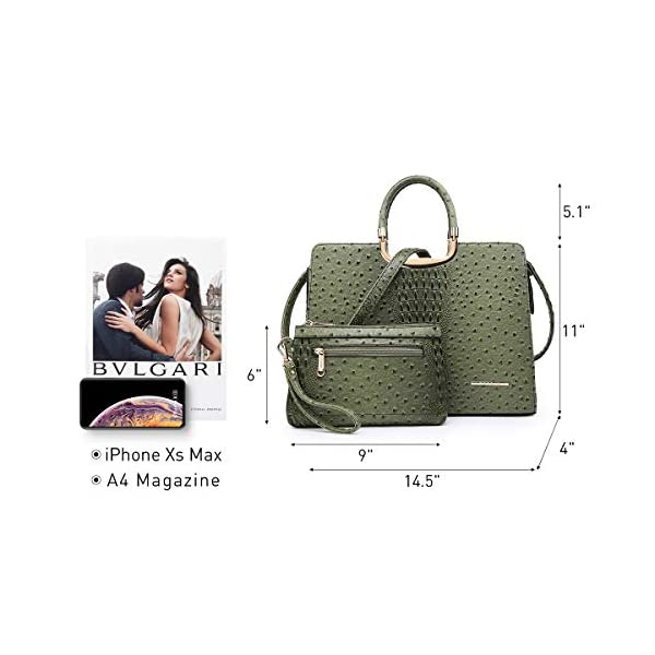 Fashion Shopping Women's Handbag Top Handle Shoulder Bag Tote Satchel Purse Work Bag with Matching