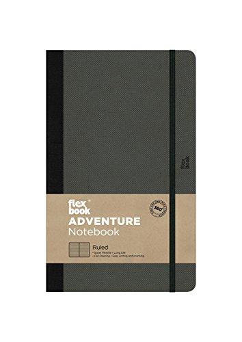 Flexbook Adventure - Notizbuch 13x21cm Taschenformat, 192 Seiten DOTTED, Off-Schwarz