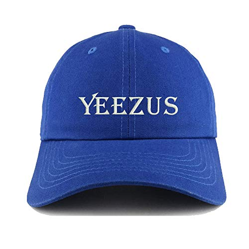 Bidesign Yeezus Hut Kappe Stickerei Joker Cap Unisex Damen Herren Baseball Einstellbare Dad Hat Bestickte Kappe Casual Hip Hop Cap Gr. 58, blau