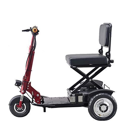 HSTD Senioren Mobil Dreirad, Mini Elektrofahrrad Für Erwachsene, 350-W-Motor, 18 Km/H, Geeignet Für ältere/Behinderte Reisen Im Freien