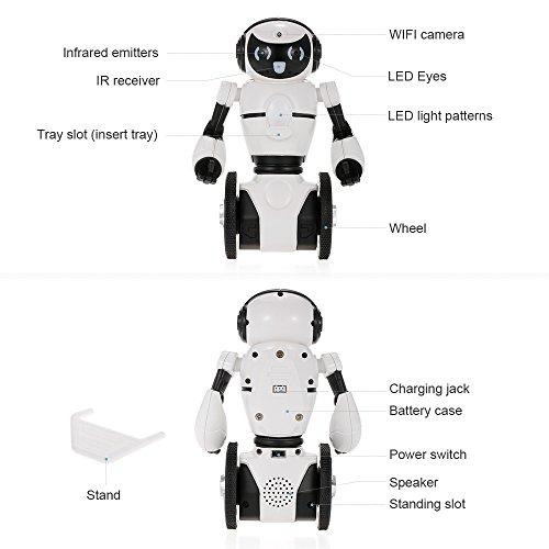 Goolsky Wltoys F4 0.3MP Kamera Wifi FPV APP Steuerung Intelligente G-sensor Roboter RC Spielzeug Geschenk für Kinder