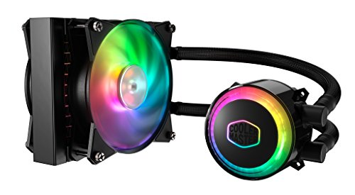 Cooler Master MasterLiquid ML120R RGB Refrigeración a Liquido CPU - Efectos de Iluminación Personalizados, Bomba de Disipación Dual y Doble Ventilador de Aire de 120 mm