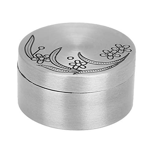 Qqmora Caja de Almacenamiento de Regalos Estuche Organizador de Joyas Entre Capas de Franela de aleación Vintage con Tapa Colección de Metal Redondo para Pulseras de Pendientes(Rose Box)