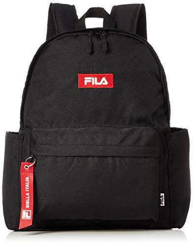 [フィラ] リュック メンズ レディース 大容量 リュックサック デイパック 19l a4 通学 通勤 旅行 ブランド 軽量 ロゴ 黒 紺 FM2208 ブラックレッド F