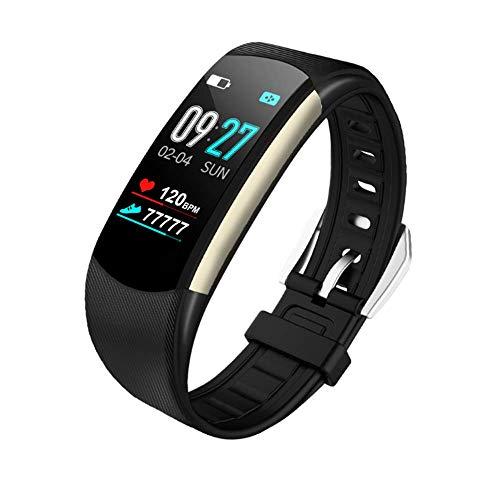 Smart Watch, Waterdichte Activiteit Tracker, Stappenteller Watch, Fitness, Hartslag Slaap Monitor En Voetstappen voor Kinderen, Dames, Mannen, Senioren, Zwart