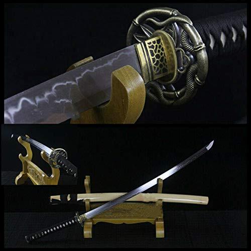 GLW Kanata Handmade Full Tang T10 Clay Tempered Blade Japanese Samurai Sword Katana Sharp