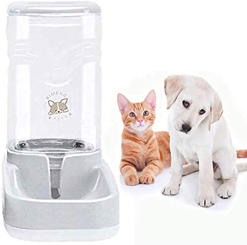 Old Tjikko Haustier Automatischer Wasserspender, Wasserspender für Hunde Katze, Automatischer Trinkbrunnen, Haustier Trinkflasche Tierzubehör für Hunde Katzen,3.8 Liter,PBA frei (Wassertränke)