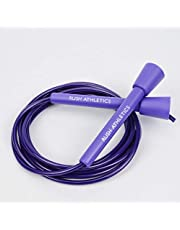 RUSH ATHLETICS SPEED ROPE - fioletowy - najlepszy do boksu MMA Cardio Fitness Training - prędkość - regulowana 3,5 m lina JUMP sprzedawana przez RUSH ATHLETICS