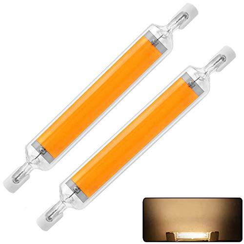 Lampadine R7s LED 118mm, 2PCS Lampade LED R7s 118mm Dimmerabile, 20 W Sostituire Alogena 160 W, AC220V ad alta Luminosità 1600 lm,360° Luce Calda 3000K LED Lineare per l'illuminazione di interni