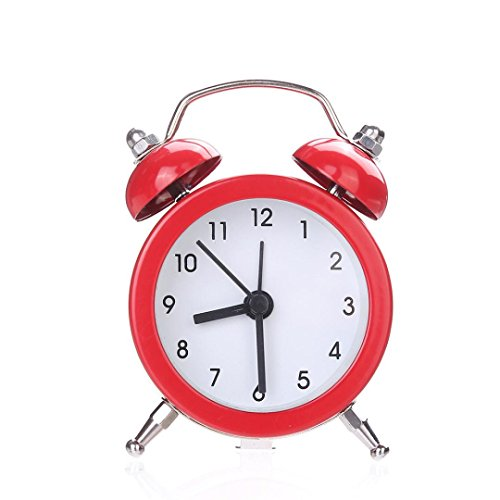 CieKen Twin Bell Alarm Clock No Ticking Analog Quartz Alarm,Battery Operated...