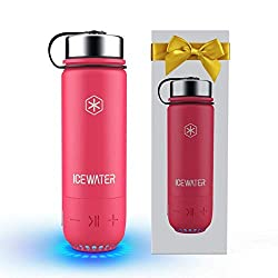 professional ICEWATER 3-in-1 Stainless Steel Smart Water Bottle (lights up to remind you of your stay …