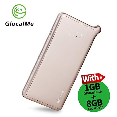GlocalMe U2S 4G LTE Mobile Hotspot, High Speed WiFi Hotspot with 1GB Global Data, No SIM-Card, Pocket MIFI,Buy US Data 12G, get 12G Free (Gold) (U2-Gold)
