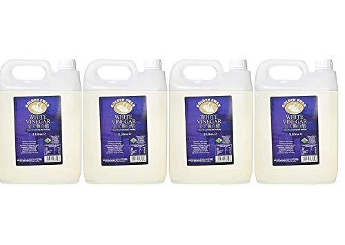 Golden Swan - Vinagre Blanco para Escabechar, Adobar y Cocinar - Botellas de 5 litros - Producido en el Reino Unido (Paquete de 4)