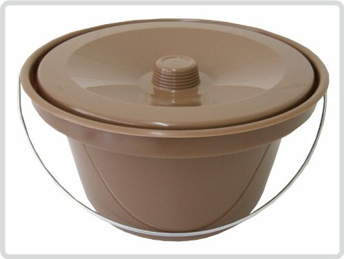 Toilettenstuhl-Eimer, braun