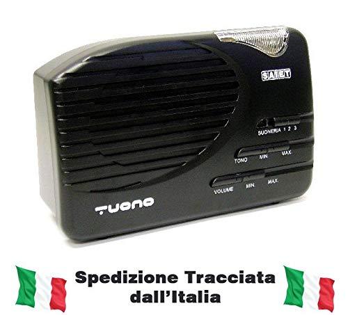Saiet Suoneria Amplificata per Telefonia Fissa, Nero/Antracite
