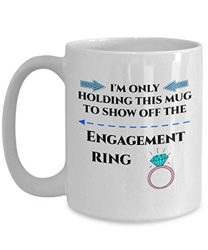 Sp567encer Verlovingskoffiemokken, zodat ze alleen deze mok vasthoudt, om het verlovingsring-cadeau-idee voor te geven, zodat je bald verloofden krijgt
