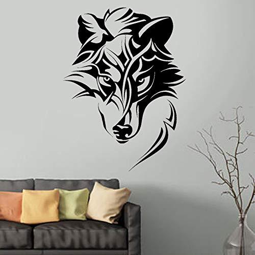 Anime Werwolf Drache Wolf Narbe Fantasie Tier Raubtier Tier Wandaufkleber Vinyl Innenraum Schlafzimmer Büro Aufkleber Wandbild Spielzimmer Club 57x76cm