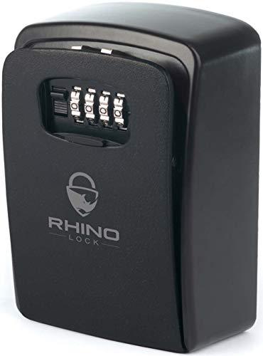 Rhino Lock Secure Key XL Combinatie Veilig - Outdoor Heavy Duty Muur Beveiliging Lock Box - XL Grote Interne Opslag voor Huis of Kantoor Sleutels met Sterke 4 Digit Lock #UKBrand