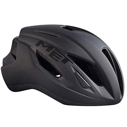 MET Casco Strale S(52-56) Ciclismo Unisex Adulto, Negro (Negro)