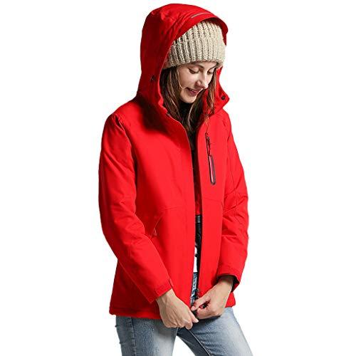 ღMINGIXNGDE Damen und Herren Ektronische Heizung Jacke Wasserdicht Warm Halten Mantel Stylisch Mehrfarbig Coat