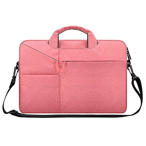 LICHONGGUI ST02S Waterproof Tear Resistance Hidden Portable Strap One-shoulder Handbag for 13.3 inch Laptops, with Suitcase Belt (Color : Pink)