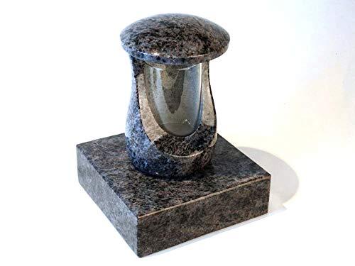 Designgrab Cerres Lampe funéraire et socle en granit Orion Blue/Vizac Blue