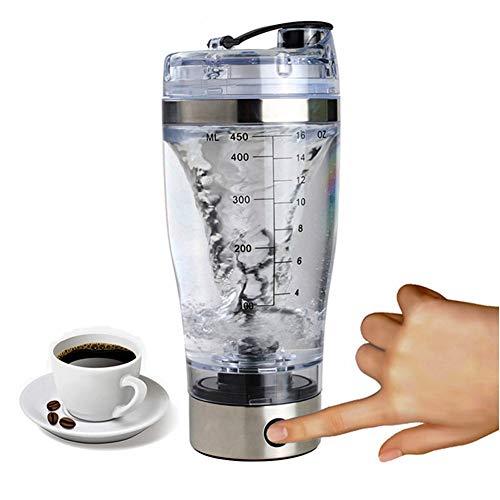 Elektrischer Eiweiß Shaker Protein Shaker Mixer Eiweißshaker Kreative Elektro Blender für Säfte Cocktails Kaffee Tee Eiweiss- und Diätpulver Cup,bettery,450ml