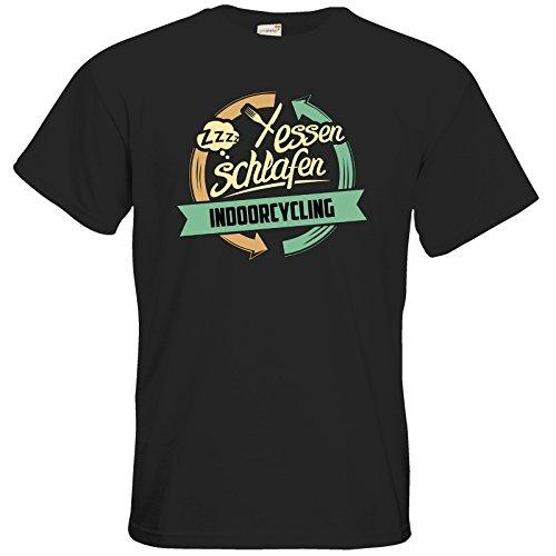 getshirts - Rahmenlos® Geschenke - T-Shirt - Sport Indoorcycling - Black L
