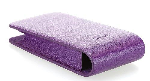LG Universal-Lederetui, Originalprodukt für LG-Handys, violett