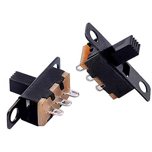 Ruluti Micro Switch 3 Pin Diapo 2 Position 1p2t on-Off Interrupteur À Bascule Poignée