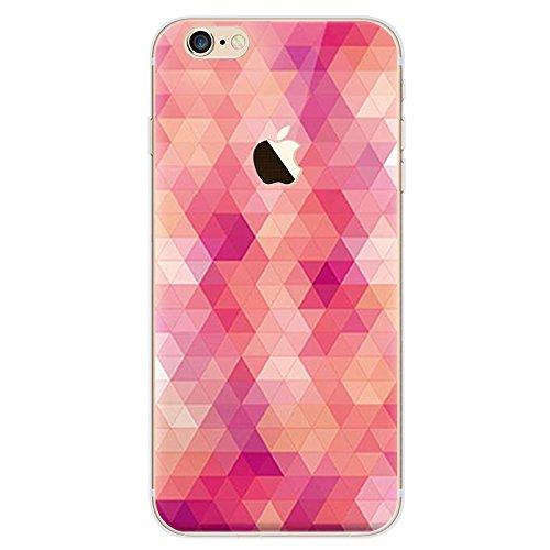 BubbleGum® beschermhoes voor iPhone Urban Pixels serie zacht TPU gel beschermhoes, telefoonhoes in artistieke stijl iPhone 6 6s 1: Pink Pixels