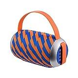 Stella Fella Naranja y Rayas Azules Tarjeta del TF de Prueba de Agua Sistema de Sonido Envolvente de Altavoces estéreo de la música del Altavoz al Aire Libre